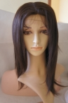 Light yaki lace front wig with silk top Indian remy human hair 12 inch #2