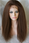 Glueless silk top lace wigs Italian yaki indian remy human hair 18 inch #4