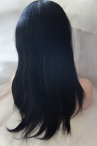 lace front wig with silk top human hair natural straight super breathe for Summer  2013 Fashion