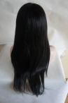 glueless silk top full lace wigs 20 inch #1b light yaki