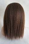 With silk top free parting glueless full lace wig Italian yaki 16 inch color #4 Indian remy hair
