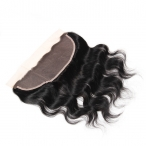Brazilian Virgin Hair Body Wave Lace Frontal 13*4 Natural Color Human Hair