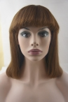 With Bangs natural straight lace front wigs remy hair 12 inch #4