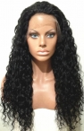 20'' #1 Lace Front with silk top Wigs Curly Black 100% Indian Remy Human Hair Top Quaility Baby Hair