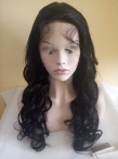 Wavy full lace wigs 22inch 1b Malaysian virgin hair