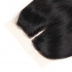 Middle Parting Brazilian Virgin 4x4 Lace Closure 100% Human Hair Natural colour Natural straight