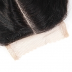 Wholesale 8-20inch Malaysian virgin human hair Body wave Middle part lace closure 4*4inch