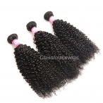 3PCS 4PCS Kinky Curly Hair Wefts Weave Brazilian Virgin Hair Bundles Natural Color