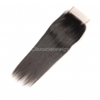Natural straight 4*4 lace closure Free parting Peruvian virgin hair natural color