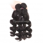 Loose wave hair bundles 1pc Brazilian virgin human hair hair wefts wholesale weave