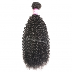 Stock Kinky curly Indian virgin hair bundles 8-26inch natural color wefts weave