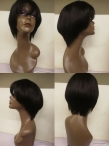 Brazilian Virgin Human Hair Bob Glueless Lace Wigs 150% density average cap