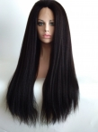 Custom 26inch italian yaki full lace wigs Indian remy hair