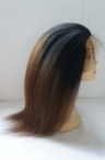 glueless silk top full lace wigs Italian Yaki ombre hair color #1/#4